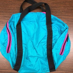 Vintage Girl Scouts Overnight Camp Duffel Teal